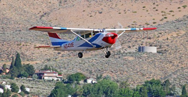 Cessna 206 Stationair (N54ME) - Just off Runway 9-27.