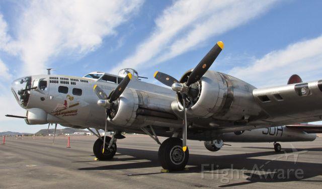 Boeing B-17 Flying Fortress (N5017N) - Aluminum Overcast, EAAs B-17G at Deer Valley airport near Phoenix AZ