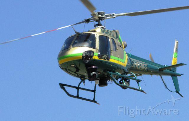 Eurocopter EC-635 (N960LA) - Lifting off from Brackett Field