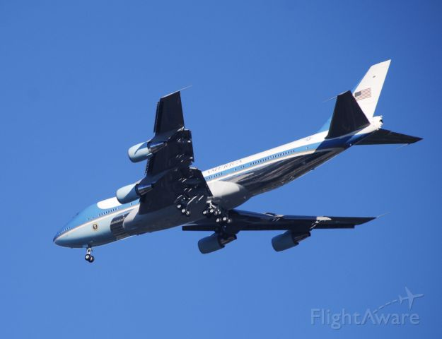 Boeing 747-200 (N29000) - Air Force One with President Trump landing at Greenville-Spartanburg!