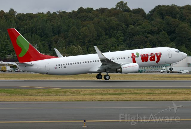 Boeing 737-800 (HL8235) - Brand new 737-800 for T