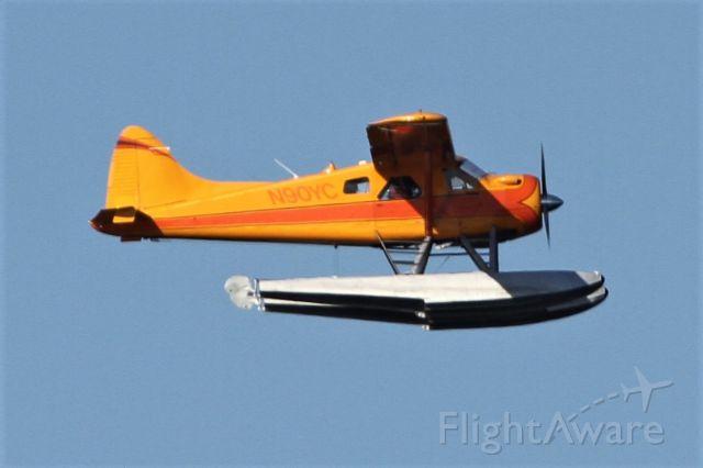 N90YC — - Taking off from Lake Washington