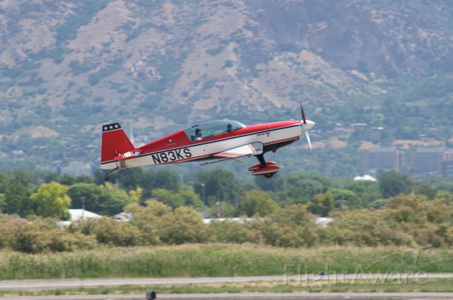 """EXTRA EA-300 (N83KS) - A """"little extra"""" rocketing out of Provo Runway 13 for hopefully a little upside down flying! br /Best viewed in full!"""