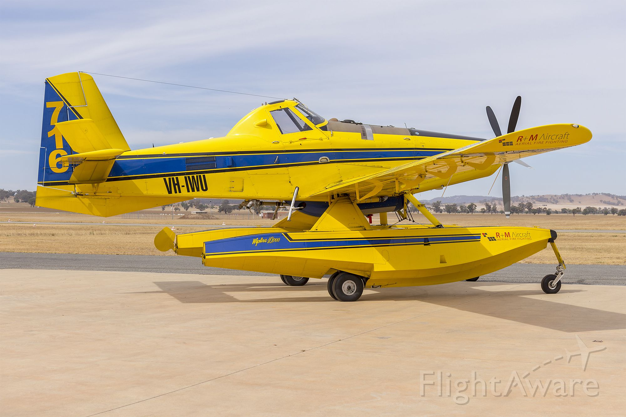 AIR TRACTOR Fire Boss (VH-IWU) - R+M Aircraft (VH-IWU) Air Tractor AT802F Fire Boss at Wagga Wagga Airport
