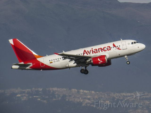 Airbus A319 (HC-CKN) - Now in the colors of Avianca Ecuador.