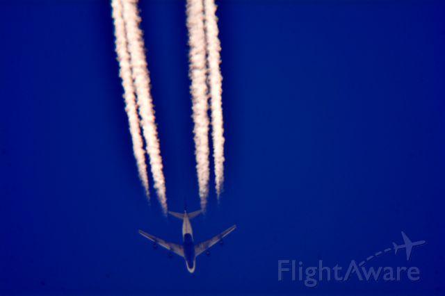 Boeing 747-400 (N663US) - Delta 73 Amsterdam Schipholnto Hartsfield-Jackson Intl over Cleveland 36,000 ft. 08.05.15.