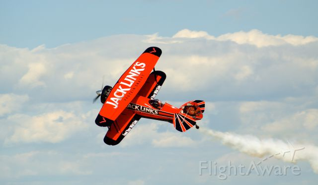 — — - The Jack Links Screaming Sasquatch at Air Venture 2015!<br />John Klatt in the Jet Waco! Can anyone confirm the pilot and reg of this aircraft?