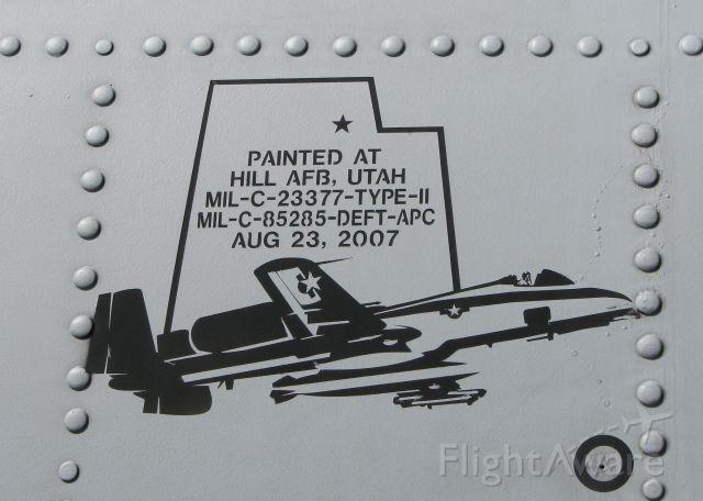 Fairchild-Republic Thunderbolt 2 (78-0582) - At Downtown Shreveport.