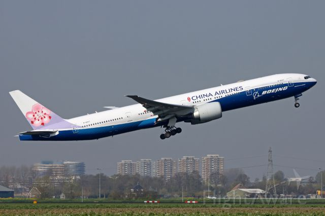 Boeing 777-200 (B-18007) - Leaving Holland for Taiwan.