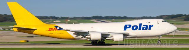 Boeing 747-400 (N487MC) - A Polar Air Cargo 747 rotates out of CVG.