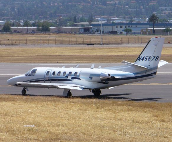 Cessna Citation II (N45678) - Awaiting takeoff clearance for 27R, 6/16/08