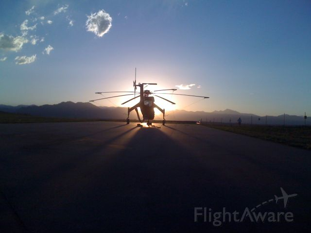 Sikorsky CH-54 Tarhe — - OLGA watching the sunset...