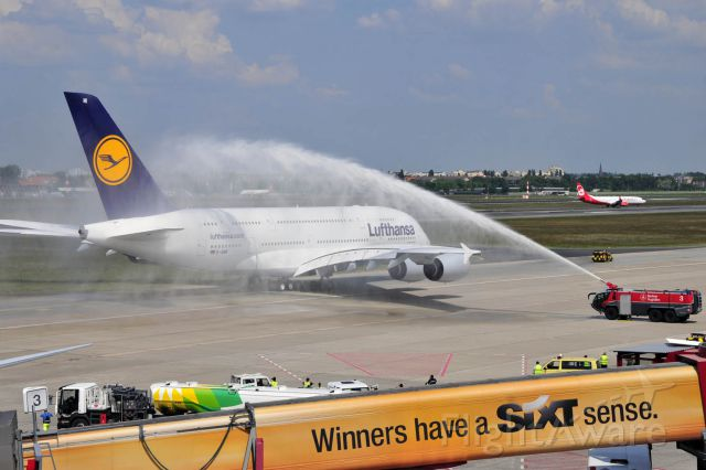 """Airbus A380-800 (D-AIMI) - Baptism of the Lufthansa A380 """"Berlin"""" in EDDT"""