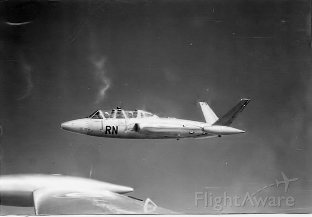 """— — - Formation flying with CM 170""""Fouga Magister"""" from French Air Force training base at Meknes, circa 1960"""