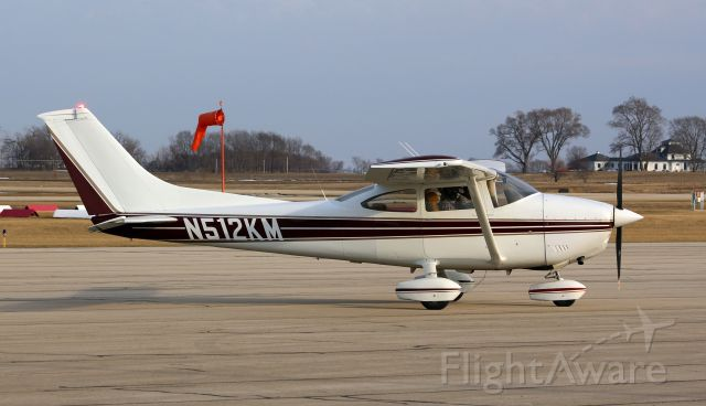 N512KM — - KSQI 9 March 2021<br />This nice little 182 decided to drop in for a short time.<br />Gary C. Orlando Photo