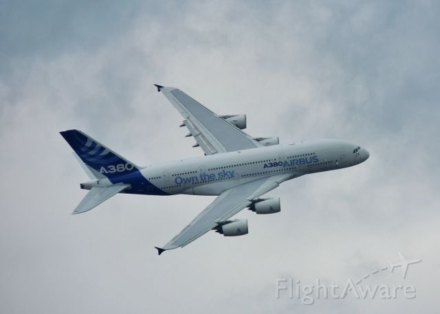 Airbus A380-800 — - Airbus A380 Flyby at the Paris Air Show 2013.