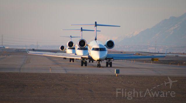 Canadair Regional Jet CRJ-700 (N607SK) - The workhorses of KSLC.