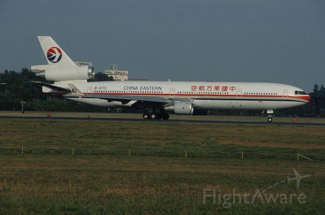Boeing MD-11 (B-2172) - Departure at Narita Intl Airport Rwy16 on 1992/11/03