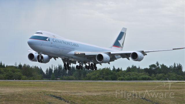 BOEING 747-8 (B-LJC) - BOE553 arriving from KPDX on final approach to Rwy 34L, 7.16.13. (LN:1433 cn 39240).