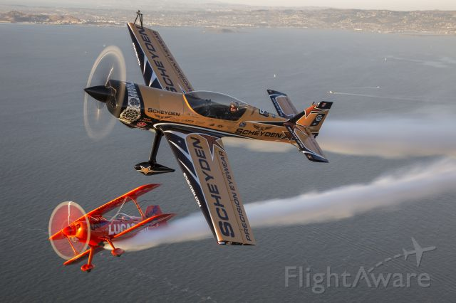MXR MX-2 (C-FMYA) - Super Dave Matheson and Mike Wiskus over San Francisco Bay during the weekend of the Fleet Week Airshow