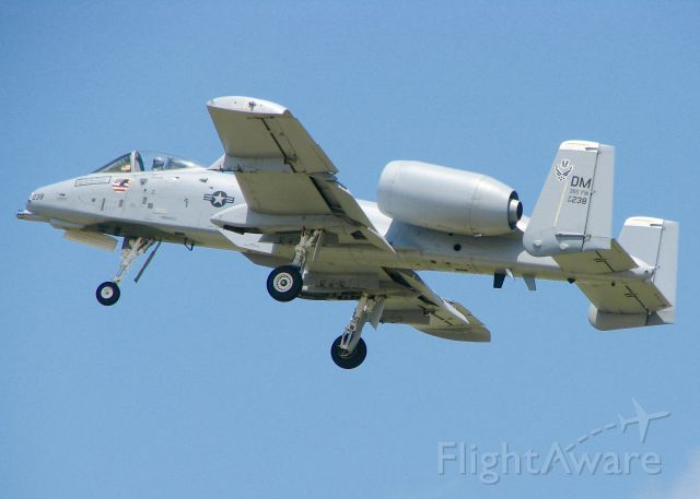 Fairchild-Republic Thunderbolt 2 (80-0238) - At Barksdale Air Force Base.