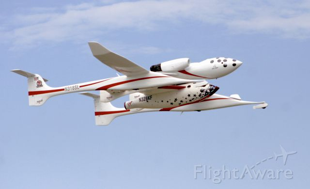 N318SL — - White Knight and Space Ship One doing a flyover at the EAA show