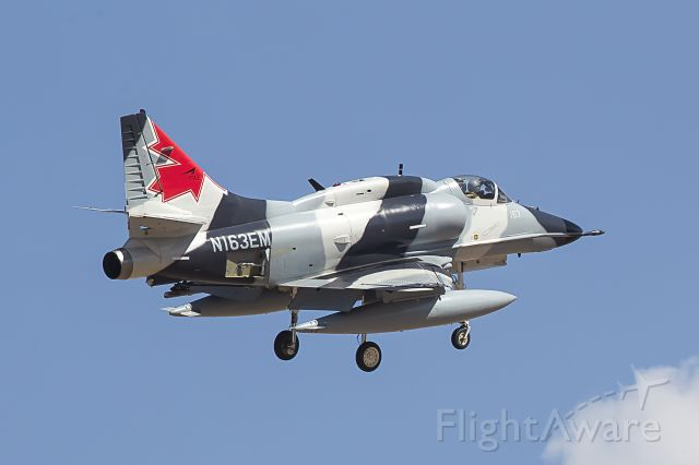 N163EM — - Draken McDonnell Douglas A4N  (N163EM) at Red Flag Combat Exercise (Nellis Air Force Base)