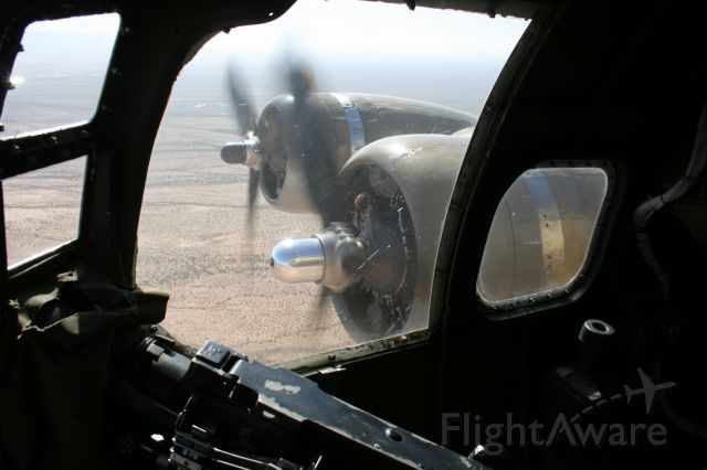 """Boeing B-17 Flying Fortress (N93012) - Starboard engines from nose of Collings Foundation B-17G """"Nine O Nine"""" near Tucson, AZ 16 Apr 11."""