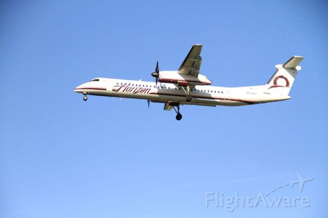 DE HAVILLAND DH-84 Dragon (N406QX) - Horizon 2040 final runway 28L inbound from Eugene (EUG)
