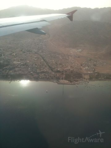 — — - Approach into King Hussein International, Aqaba, Jordan
