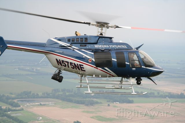 Bell 407 (N575NE) - During a flyover of the Lincoln Air Show in 2006
