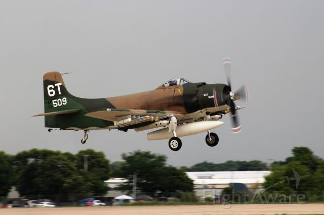 Douglas AD Skyraider (N2AD) - A little earlier in the take-off ....Bad News putting on a great show at Oshkosh '18