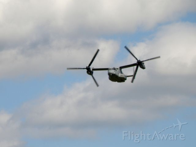Bell V-22 Osprey (16-5847) - A V22 Osprey (165847) of Marine Medium Tiltrotor Squadron (VMM) 162 based at MCAS New River, NC (KNCA) during a low pass at Capitol City Airport (KFFT).  Marines of the 24th Marine Expeditionary Unit were training prior to an upcoming deployment.