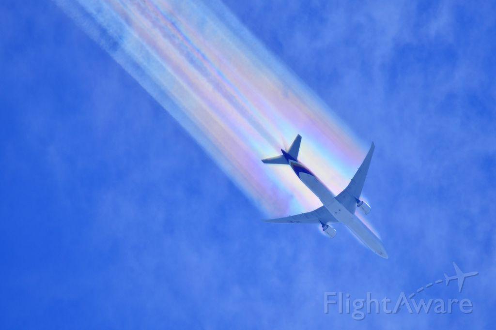 BOEING 777-300 (HS-TKO) - Thai Airways flight THA473 Boeing 777-300 overflying Toowoomba Queensland Australia 03 January 2015 inbound to Brisbane from Bangkok.