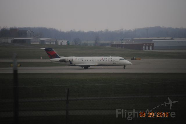 Canadair Regional Jet CRJ-100 (N783CA) - Landed with Reverse thrust on