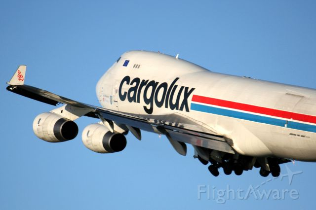 Boeing 747-400 (LX-OCV) - Cargolux Heavy underway from Anchorage 9Oct11