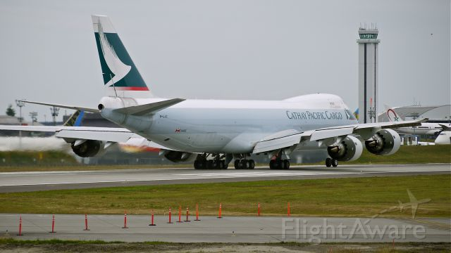BOEING 747-8 (B-LJC) - BOE553 makes a fast taxi / brake test on runway 16R prior to its first flight on 6/23/13. (LN:1433 cn 39240).