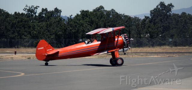N467WP — - Taxiing to Parking at Kaiser Air  06-22-2015  (Stearman-Boeing PT-17)