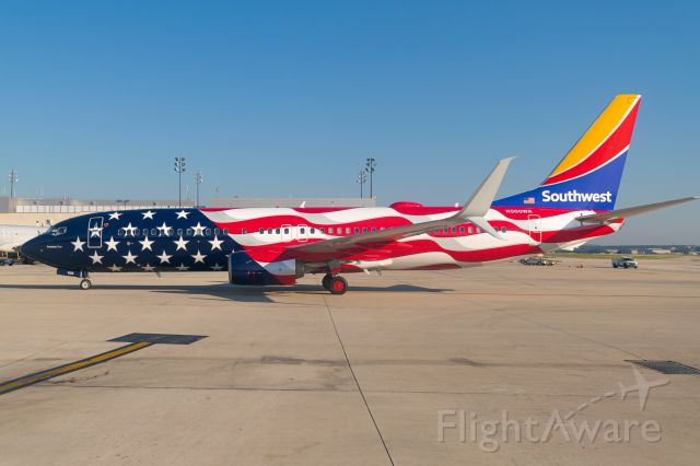 Boeing 737-800 (N500WR) - Freedom One's first arrival to San Antonio.