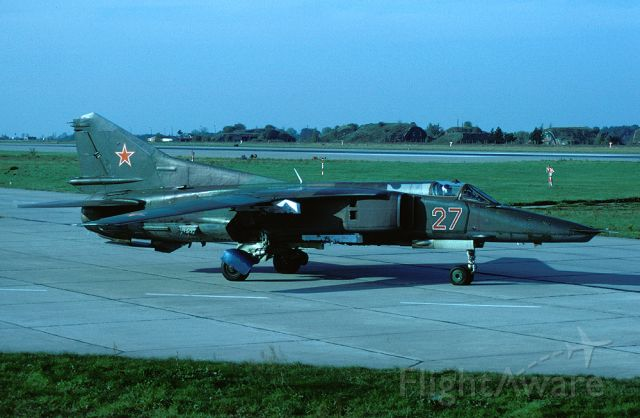 N27 — - MiG-27K with registration/code 27 has blue wheelcovers due to its