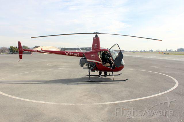 Robinson R-22 (N7508Y) - Shot February 6, 2012 at KHWD prior to flight lesson.