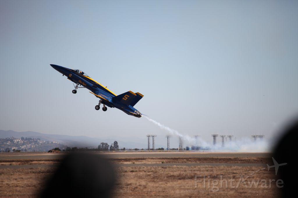 McDonnell Douglas FA-18 Hornet — - Slow Flight. Blue Angels Air Show Miramar 10/14.
