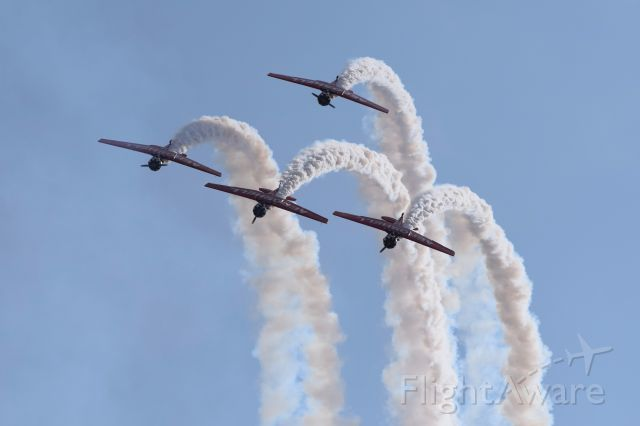 — — - Aeroshell Team performing at Abbotsford Airshow August 12, 2017