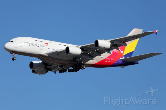Airbus A380-800 (HL7635) - On Approach to Rwy 16R