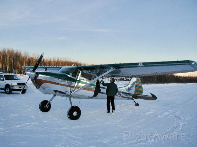 Cessna 170 (N4380B) - Preflight before first flight with new engine.