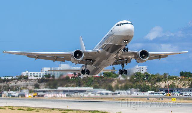 BOEING 767-300 (P4-MES) - Big Boy Bandit departing Princess Juliana Int'l Airport, SXM