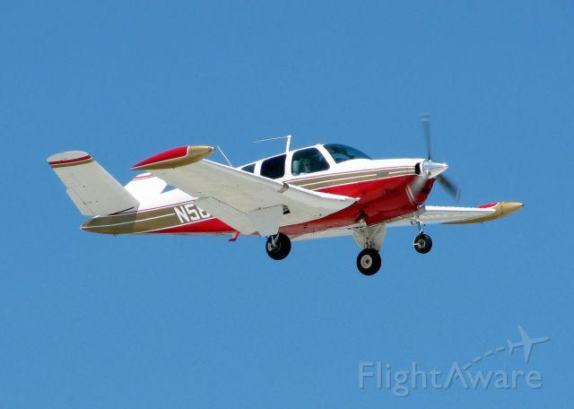 Beechcraft 35 Bonanza (N58BZ) - Landing at Shreveport