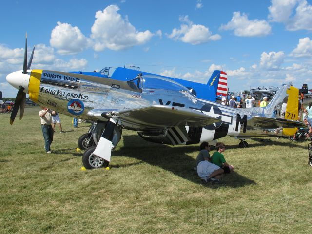 North American P-51 Mustang (N151HR) - The crowds at Oshkosh 2013!