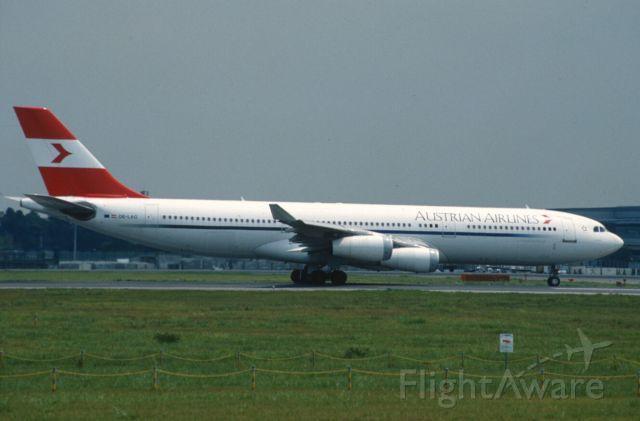 Airbus A340-200 (OE-LAG) - Departure at Narita Intl Airport Rwy16R on 2004/08/10