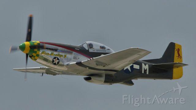 North American P-51 Mustang (N41749) - Departing 4 for Memorial Day formation flight over San Antonio.